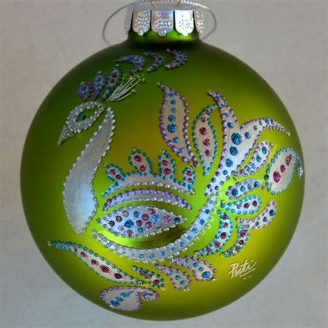 hand painted christmas ornament christmas decoration