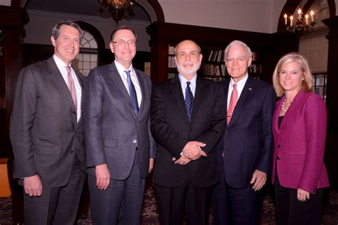 Michael Columbia Mba International Relations And Economics by Ben Bernanke Former Federal Reserve Chair Receives