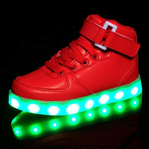 light up sneakers for kids light up shoes red kids high top light up revolution