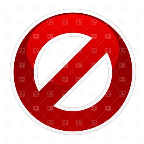 no sign no sign 1713 signs symbols maps royalty free vector clip eps