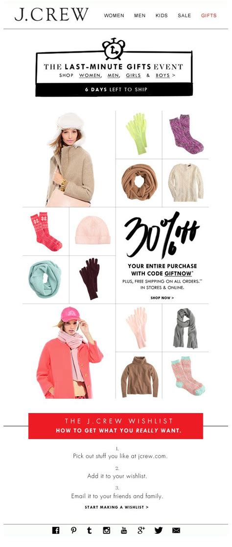 promotion layout inspiration j crew sale pdp email design inspiration