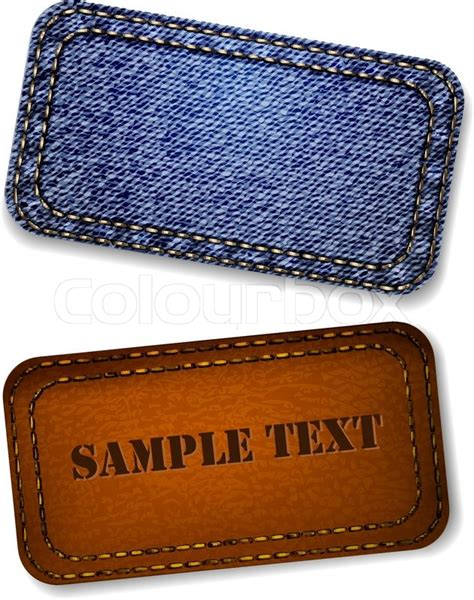 Home Decor Product Design Jobs by Jeans And Leather Label Vector Stock Vector Colourbox