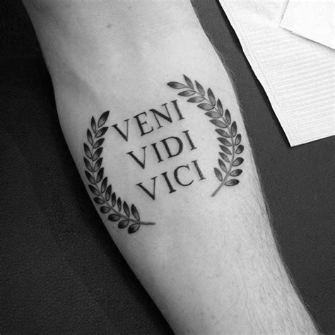 veni vidi vici tattoo design 60 veni vidi vici designs for julius caesar ideas