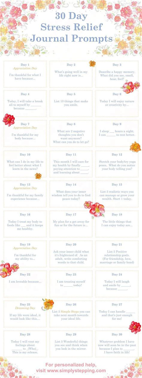 Digital Detox Journal Prompts 30 Days by The 25 Best Stress Relief Ideas On Stress