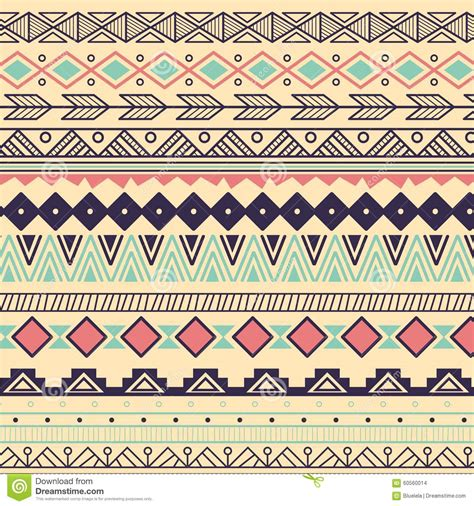 tribal pattern svg aztec tribal pattern in stripes stock vector