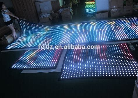 led wall curtain see through programmable transparent mesh curtain display