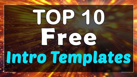 free intro templates for sony vegas top 10 free intro templates sony vegas after effects