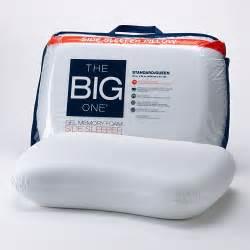 Kohl S Memory Foam Pillow by Kohl S The Big One Gel Memory Foam Side Sleeper Pillow
