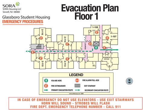 Exit Maps My Blog Building Evacuation Map Template