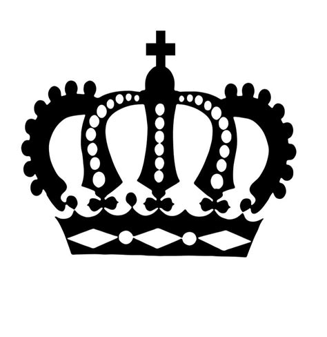 crown template black and white image gallery king crown silhouette side