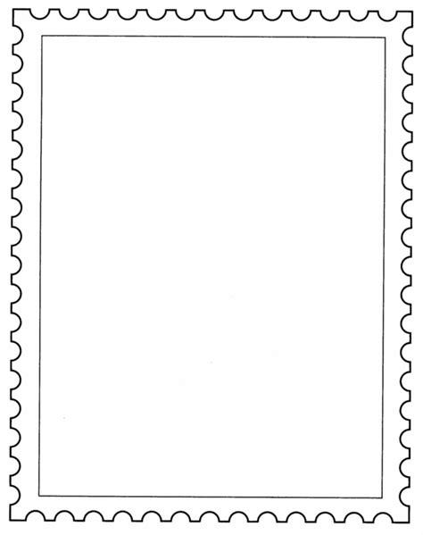 postage stamp template school posta