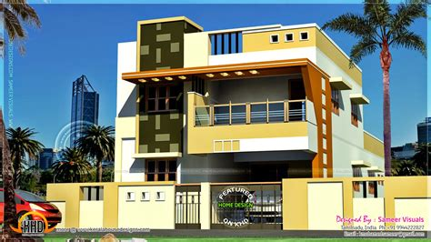 Indian Modern House Plans Modern South Indian House Design Kerala Home Design And Floor Plans