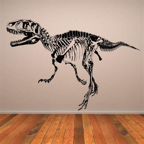 Dinosaurs Murals Walls t rex skeleton dinosaurs wall art sticker wall decal transfers