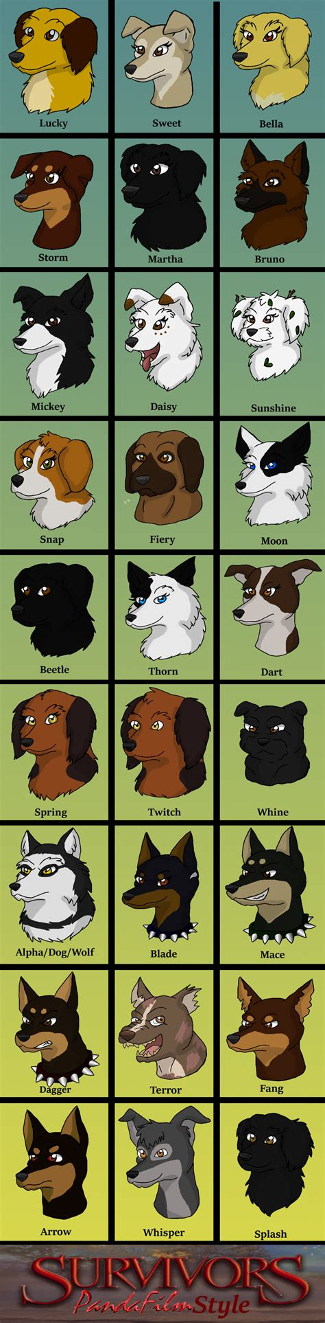survivors dogs survivors dogs series 1 characters by pandafilmsg on deviantart