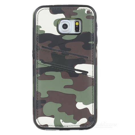 Best Deal Cover Mobil Timor Terlaris protective back for samsung galaxy s6 edge army green camouflage free shipping dealextreme