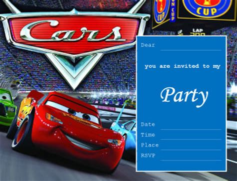 Cars Birthday Card Template by Cars Invitation Ideas Foods