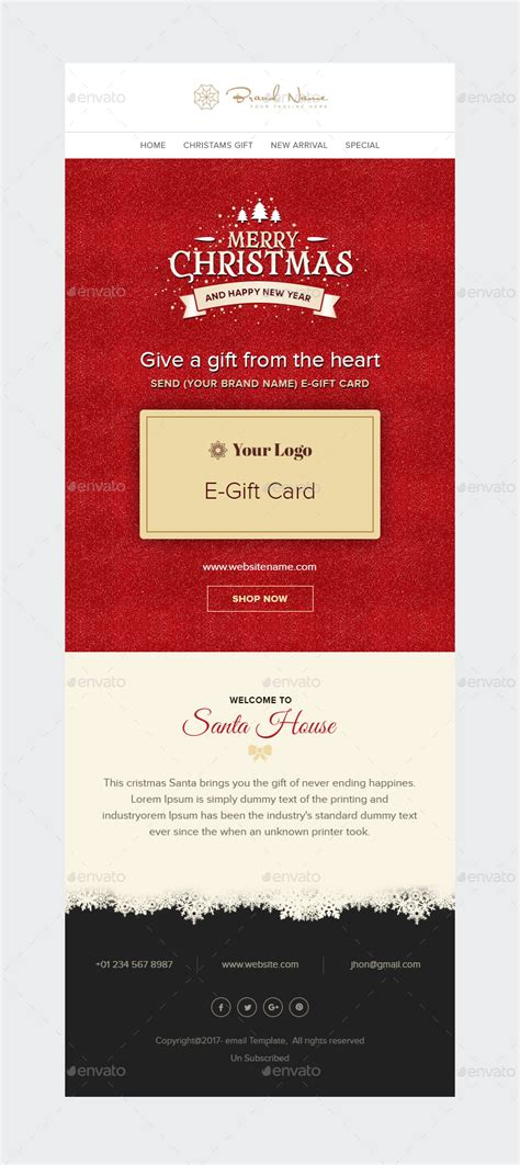 Egift Card Template by X E Gift E Gift Card Email Template Psd By