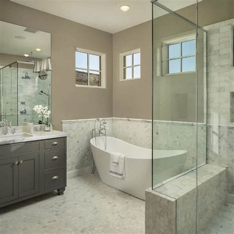 Half Bathroom Tile Ideas 1000 Images About Bathrooms On Gray Bathrooms Vanities And Benjamin