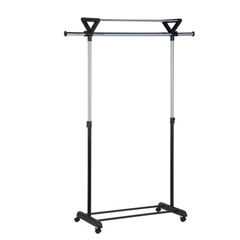Garment Rack With Top Shelf by Honey Can Do Top Shelf Plastic Garment Rack Gar 02123