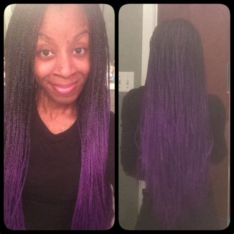 how to do ombre box braids back view of purple ombre box braids braid styles