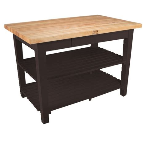 john boos classic country work table kitchen island 48 quot x john boos classic country worktable free shipping