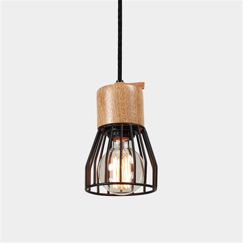 Timber Concrete Metal Cage Pendant Light Lighting Metal Cage Pendant Light