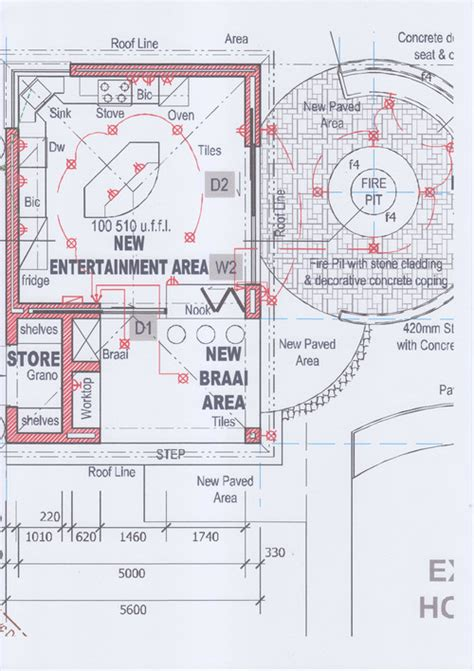 How To Design House Plans Help With Layout Of New Braai Entertainment Area