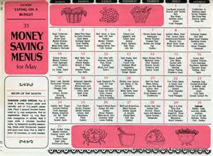 retro dinner ideas from may 1964 free printable