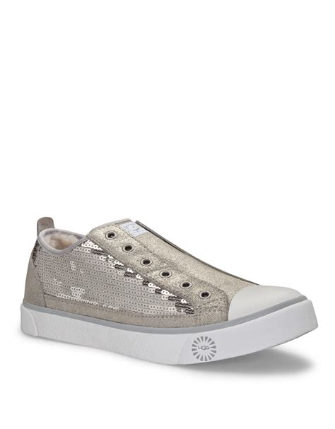 silver sequin sneakers ugg laela sequin sneakers in silver silver suede lyst