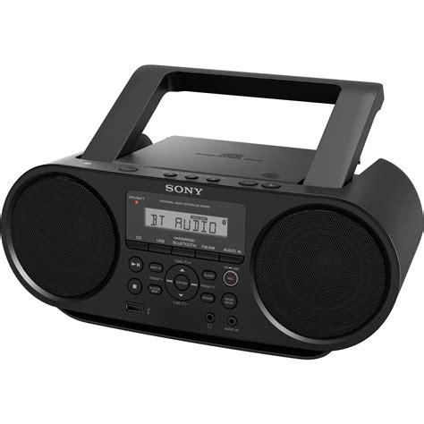 radio cd cassette sony zs rs60bt cd boombox zsrs60bt b h photo