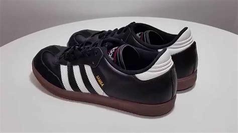 classic adidas samba black white indoor soccer youth shoes size 6