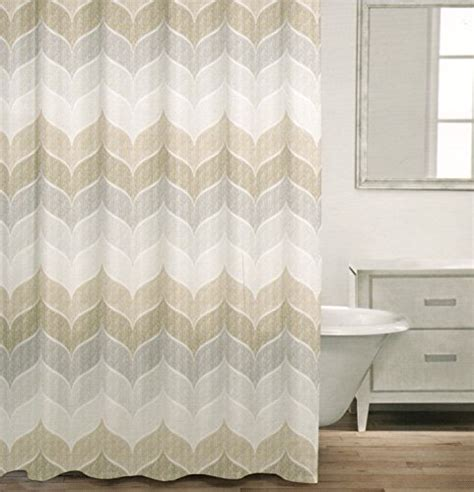 grey and tan shower curtain caro home 100 cotton shower curtain wide stripes chevron