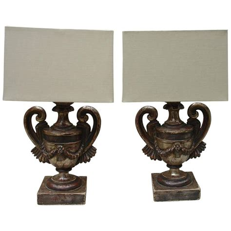 Candlestick L Shades by Pair Of Italian Candlestick Ls With Custom Shades For Sale At 1stdibs