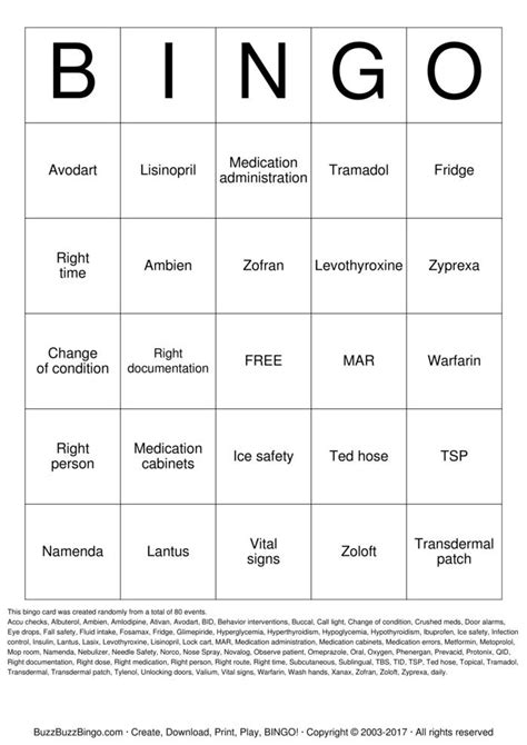 Medication Review Bingo Cards to Download, Print and