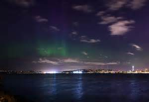 lights in seattle borealis provides stunning light show