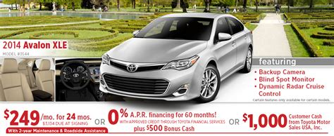 toyota avalon lease price new 2015 toyota avalon special purchase lease offers