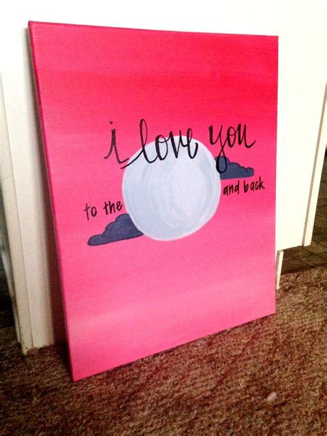 painting ideas easy i love you to the moon and back canvas painting by