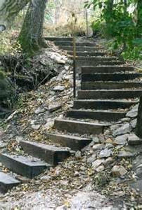 how to make hillside railroad tie landscape stairs railroad tie as steps railroad tie steps deer lake