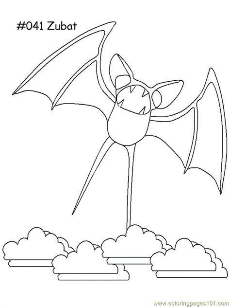 pokemon zubat coloring pages zubat coloring page free pokemon coloring pages
