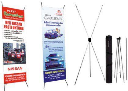 Mini X Banner Agen Brilinks Media Promosi produk outdoor pusatnya digital printing kota malang