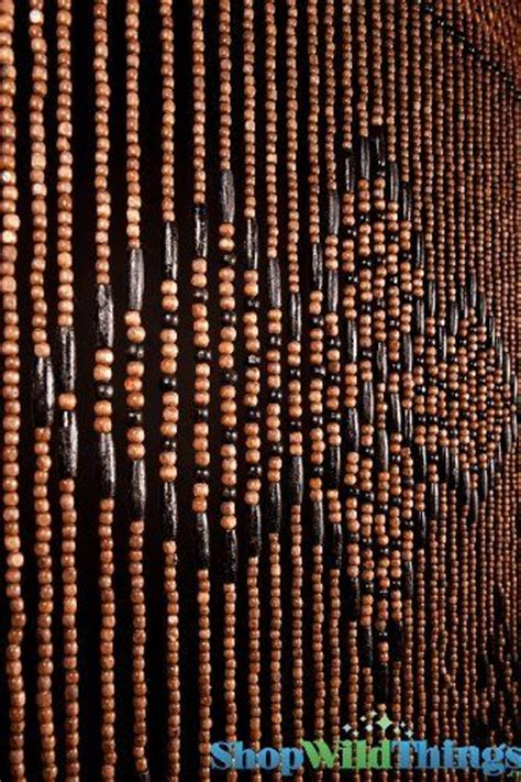 wood bead curtains wooden beaded curtain quot coffee bean quot brown black by