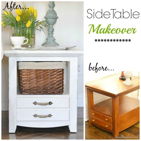 diy chalk paint makeovers side table makeover with chalk finish paint beneath my