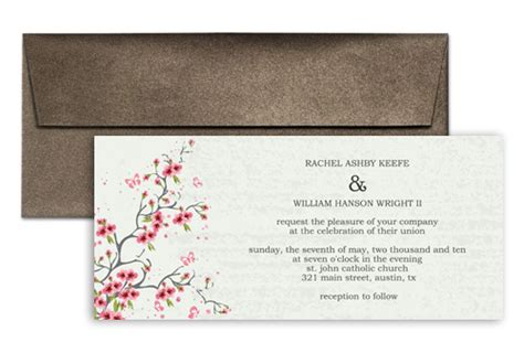 custom diy printable personalized wedding invitation 9x4