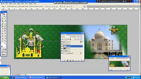kumpulan tutorial cara membuat banner dengan photoshop cara membuat banner isra mi raj dengan photoshop youtube