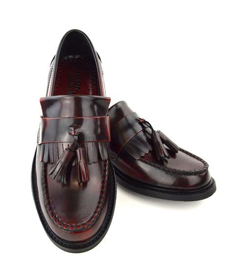 oxblood tassel loafers modshoes oxblood tassel loafers 04 mod shoes