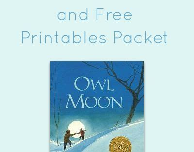 printable owl moon owl moon activities and free printables activities