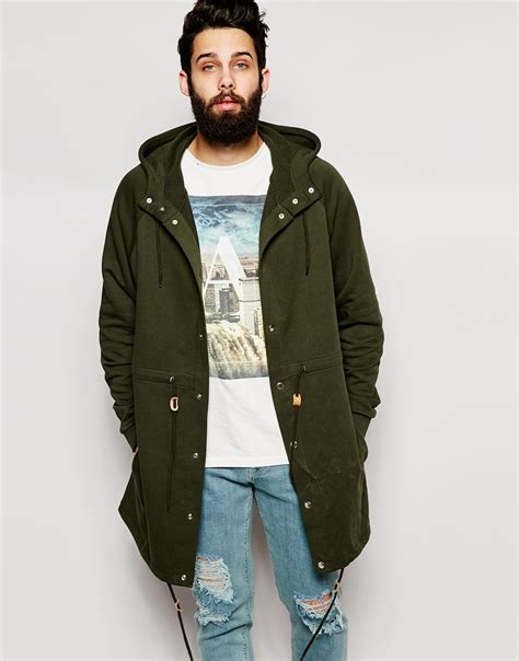 Asos Parka by Asos Oversized Parka Jacket In Jersey In For