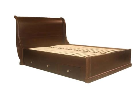 maple sleigh bed w drawers brices furniture