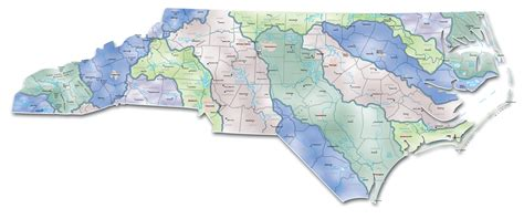 nc map watersheds carolina map carolina mappery