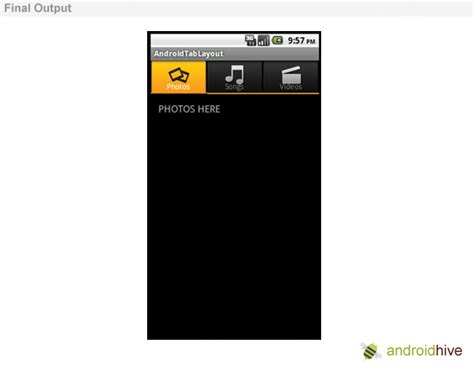 tutorial tabhost android android tab layout tutorial